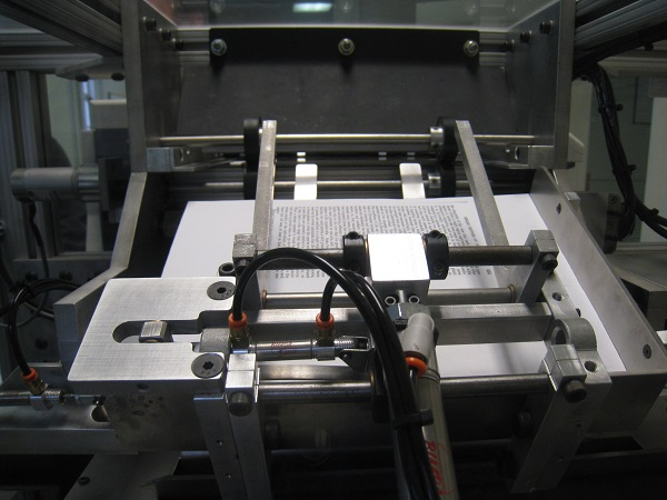 Many self-publishing companies do book printing with printers like the one in this picture